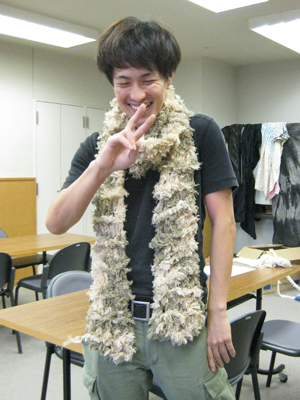 完成したら喜びもひとしお☆最高の笑顔でピース^^