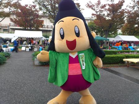 京都CAPイベントでのユルキャラ「とま朗」。ホテル協会のユルキャラだとか…